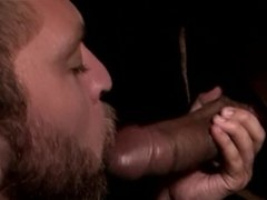 Marcus Stone hipster cock worship at the Gloryhole