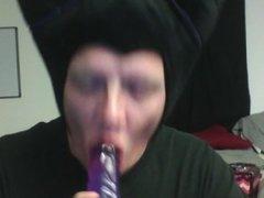 Maleficent cosplay xxx bj on purple cock deep throat training 10 inches
