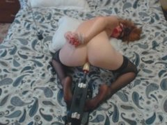 Huge Fucking Мachine and Bondage Make Me Crazy Orgasm and Squirt