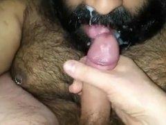 Chub bear receives facial