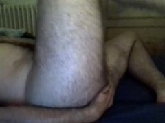 French hairy man masturbating and fingering ass