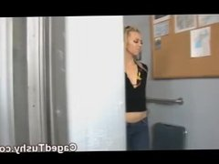 hot weed blonde babe gets fingered and punished in jail