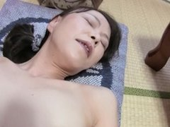 Japanese granny not too old to ride cock and get creampie