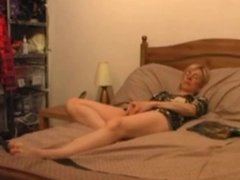 Hidden cam. My mom masturbating on bed