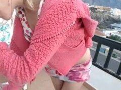 Skirt up Bra down Hotel balcony isla coconut_girl1991_011216 chaturbate REC