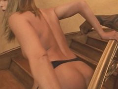 Big Booty Blonde Teen Sex Slave Gets Anal Fucking Huge Black Cock