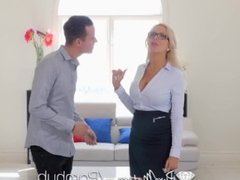PureMature Busty real estate MILF Nina Elle fucks potential buyer