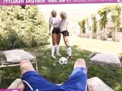 VR Bangers-Busty Milf Bridgette B& Anya Olsen Eat's Eachother's Pussy