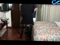 Latina Milf Fucks Hotel TV Repair Man Hidden Cam