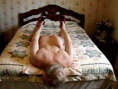 Masturbating on bed