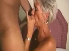 Skinny granny loves a good rough fucking from her black lover