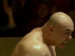 Punch bodybuilder wrestling