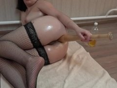 hard anal with a baseball bat and anal fisting