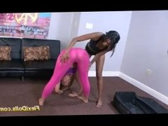 flexi Kelsi Monroe stretched like a real doll