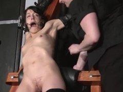 Tied Elise Graves pussy punished and hardcore bdsm of enslaved fetish porns