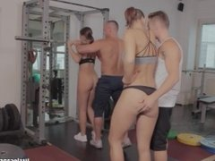 Swingers Sex meeting in the Gym , WeCumToYou Part2 - Little Caprice