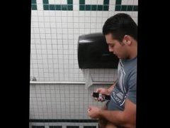 Caught jerking off in public toilet