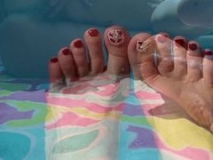 Pool Piggies - Foot Fetish and Pussy Teases