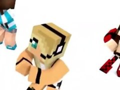 hot minecraft girls dance to porn video fuck and cum at different times