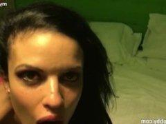 Mydirtyhobby - Dirty slut swallows some cum!