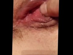 Girlfriend pussy getting wet and creamy