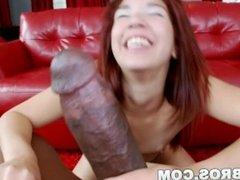 BANGBROS - Leah Cortez Creams All Over Lexington Steele's Monster Cock!
