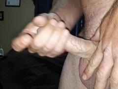 Close up jerk off with huge cumshot finish