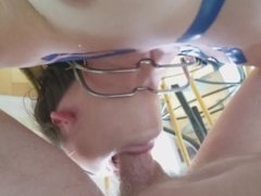Brutal Facefuck in Blue: Gagging Teen Deepthroat Bondage