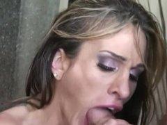 Petite Big Tit MILF Sara Jessie Gets Throat Fucked And Her MILF Pussy Stuff