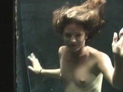 The girl in the aquarium.