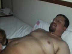 Transexual gorda mamando