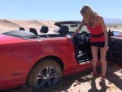 stuck car naked