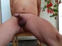 Gianni Balcony Masturbation