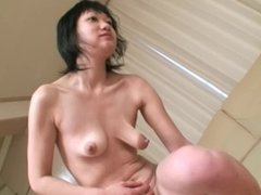 Mature Japanese cougar fucked and creampie in her fresh shaved pussy