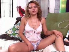 Hot ebony Aviana Lace fucks her tight hole with dildo