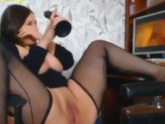 huge tits latina girl teasing on webcam