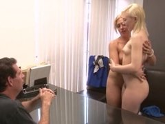 Teen stars in lesbian porno with her stepmom