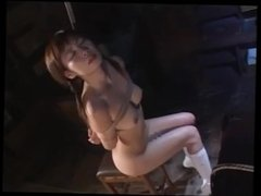 sweet young Japanese in rope bondage