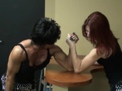 Muscle Girls Armwrestling Match