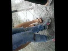 Young Girls in Flip Flops, stuck in Palermo's Sudden Rain (Part 1)