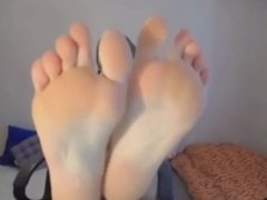 Showing some feet and pussy - Add her Snapchat MaryMeys