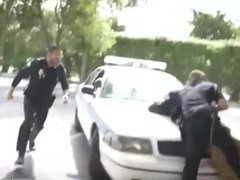 Black cop fucks guy cums in mouth and