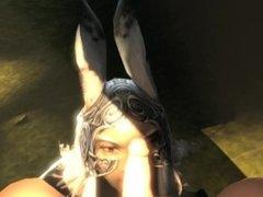 Final Fantasy Bunny girl blowjob POV