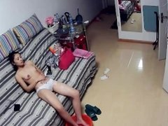 Chinese beautiful wife attract her husband