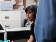 Crooked Security Guard Dicks Latino Teen Thief