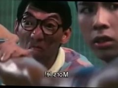 Funny movie scene with an asian figure girl