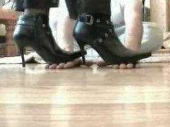 Boots hand walking