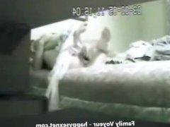 My mom masturbating with big dildo. Hidden cam