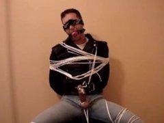 Tied-up slave involuntary cum
