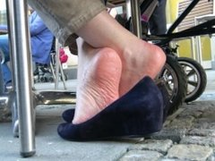 Close To Mature Lady's Sole Wrinkles 2